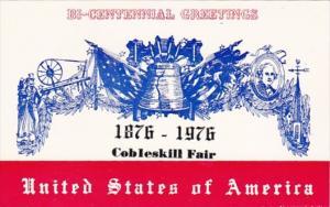 New York Cobleskill Fair 1876-1976 Bi-Centennial Greetings