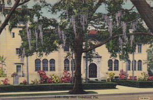 City Hall Lakeland Florida 1947 Curteich
