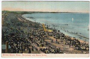Revere Beach, Mass, Boulevard and Beach Scene