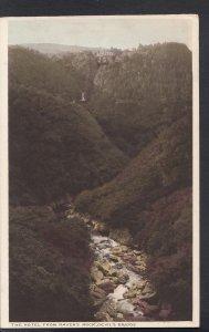 Wales Postcard - Aberystwyth - Nant-Llettys Waterfall, Devil's Bridge  DC309