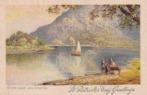 KILLARNEY, Kerry, Ireland, 1900-1910s; On The Upper Lake, Sailboat