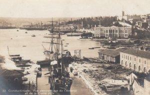 RP; CONSTANTINOPLE, Turkey, 1910s; Vue panoramique de I'Arsenal et de la Corn...