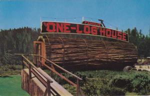 Famouse One Log Redwood House CA, California