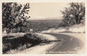 RP: Washington , 1930-40s ; Mt Adams from an Orchard Highway ;ELLIS 335