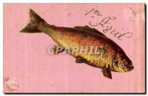 Postcard Old Poisson April 1st