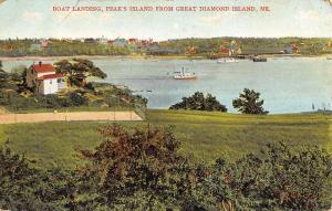 Great Diamond Island Maine Peaks Island Boat Landing Antique Postcard K93138