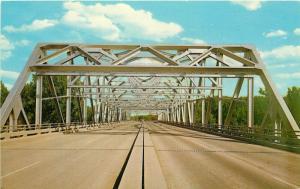 JFK Kennedy Bridge Greater Grand Forks North Dakota Minnesota ND MN Postcard
