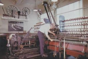 Royton Cotton Spinning Mule Manchester Elk Mill Postcard