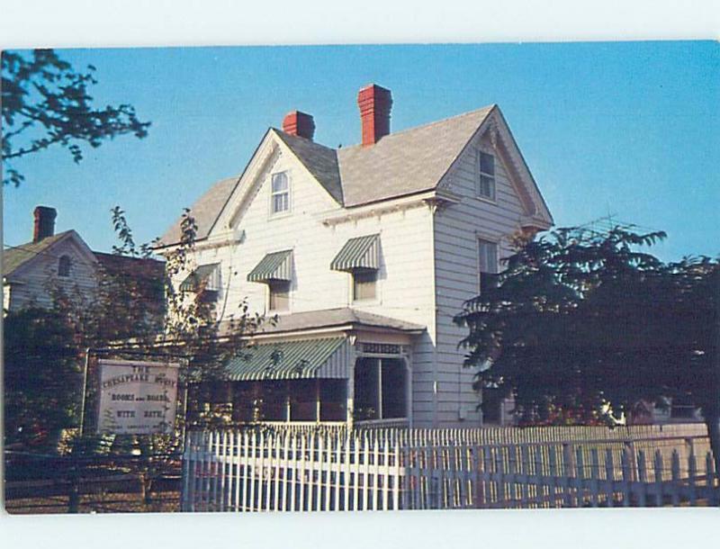 Pre-1980 CHESAPEAKE HOUSE Tangier Island In Chesapeake Bay Virginia VA G0402