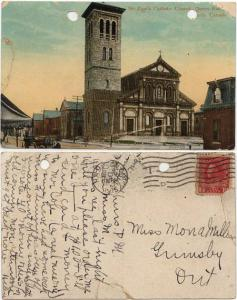View Card - 1915 Showing St. Paul's Catholic Church Toronto