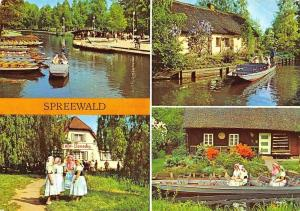 Spreewald Blota Bateaux Women Traditional Costumes Boats River