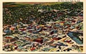 South Dakota Sioux Falls Aerial View Curteich