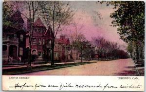 TORONTO Ontario Canada Postcard JARVIS STREET Residential Scene 1906 Cancel