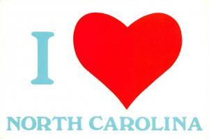 Postcard I Love North Carolina, USA, United States, Large Letter Card #572