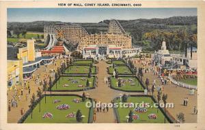 View of Mall, Coney Island Cincinnati, Ohio, OH, USA Unused