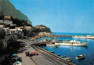 Italy Capri Il Porto The Harbour Le Port Schiff Ship Boats Auto Cars