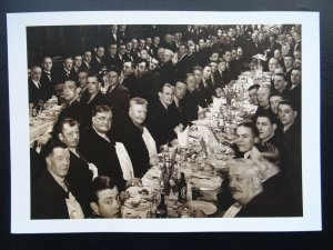 WAPPING Dockers Club St Patrick's Social Club Dinner c1930 Reproduction Postcard