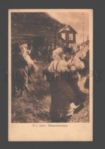 086413 RURAL Types DANCE by ZORN vintage PC
