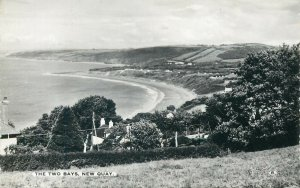 Wales the  Two Bays New Quay Postcard