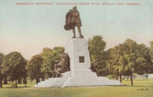 ORILLIA , Ontario , 00s-10s ; Champlain Monument , Couchiching Beach Park