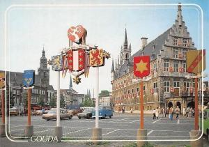 Netherlands Gouda Stadhuis, Street Vintage Cars Voitures Town Hall