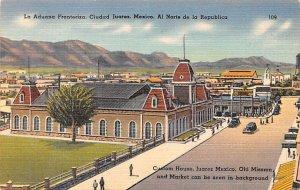 La Aduana Fronteriza Ciudad Juarez Mexico Tarjeta Postal Unused