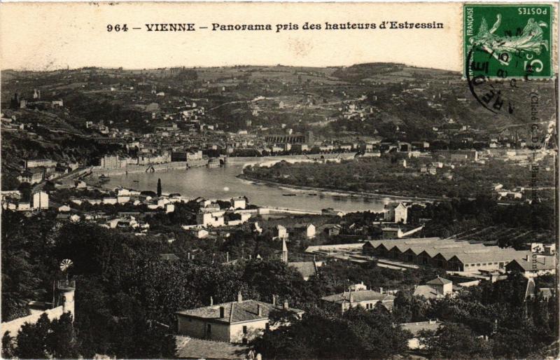 CPA VIENNE - Panorama pris des hauteurs d'estressin (272967)