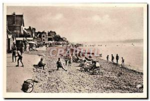 Old Postcard Le Crotoy The Beach