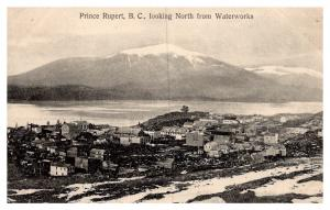 British Columbia , Aerial view Prince Rupert looking North from Waterworks