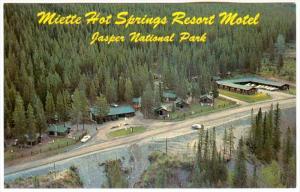 Miette Hot Springs Resort Motel, JASPER, Alberta, Canada, 40-60's