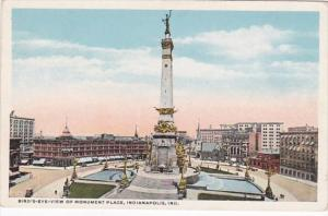 Indiana Indianapolis Birds Eye View Of Monument Place