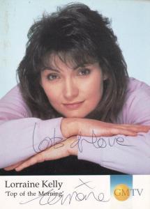 Lorraine Kelly GMTV Hand Signed Cast Card Photo
