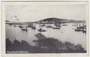 Cornwall; Falmouth Docks PPC, 1905 PMK, To Miss C Scott, Regent Park Rd, London