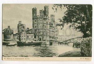 285956 ENGLAND Caernarfon Castle BENOIS Old Russia ART NOUVEAU