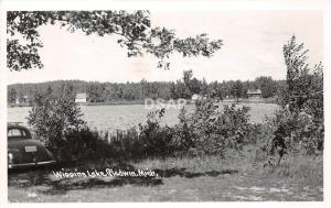 C67/ Gladwin Michigan Mi Real Photo RPPC Postcard 1948 Wiggins Lake Car