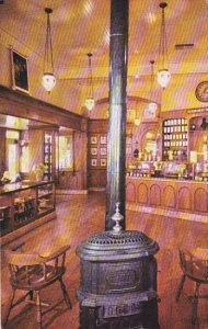 Disneyland The Upjohn Company Interior Pot-Bellied Stove and Hanging Chandeliers