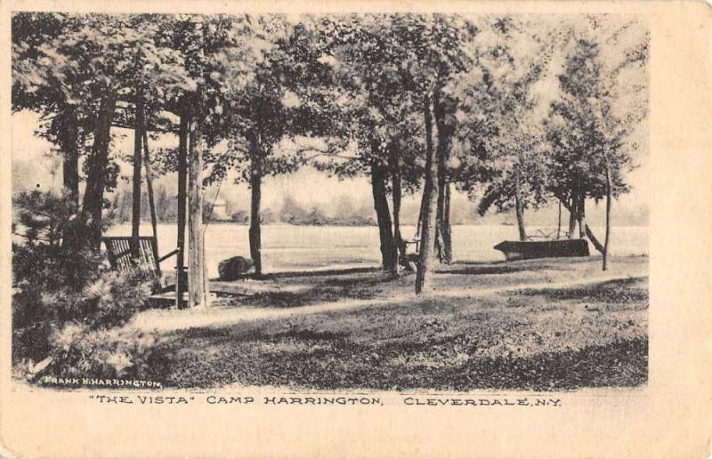 Cleverdale New York Camp Harrington Vista Scenic View Antique Postcard K87535