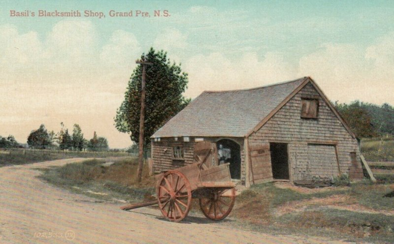 GRAND PRE, Nova Scotia, Canada, 1900-10s; Basil's Blacksmith Shop