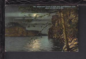 Moonlight Scene,High Rock,Wisconsin Dells,WI Postcard
