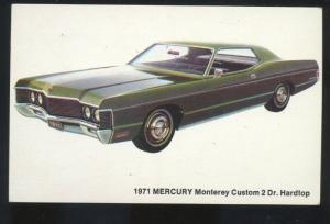 1971 MERCURY MONTEREY 2 DOOR DAYTON OHIO CAR DEALER ADVERTISING POSTCARD