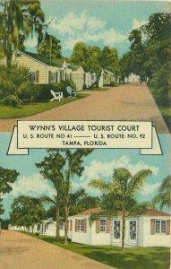 Beals 1940s Wynn's Village Tampa Florida Roadside Postcard 12511