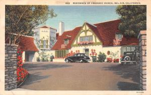 US California Residence of Frederic March, Bel-Air