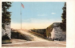 Fort Monroe Virginia~Ascent to the Flagstaff~1903 Detroit Pub Co #7770~Postcard