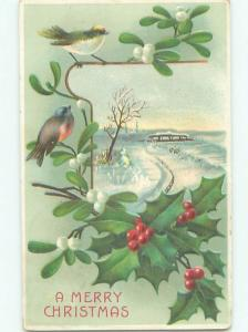 Divided-Back CHRISTMAS SCENE Great Postcard AA0224