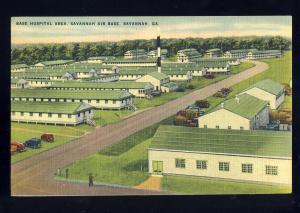 Savannah, Georgia/GA Postcard, Base Hospital Area, Savannah Air Base