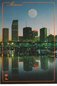 Full Moon Over Miami Florida