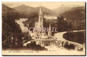 Old Postcard Lourdes View Plongeanle