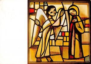 Taize, eglise de la Reconciliation Vitrail de l'Annonciation, fr. Eric