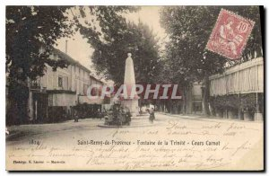 Postcard Old Saint Remy de Provence Fountain Carnot Trinidad Courses