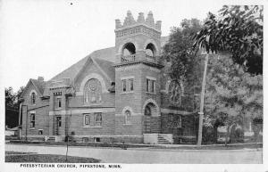 Pipestone Minnesota Presbyterian Church Street View Antique Postcard K26783